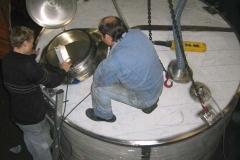 Inspektion des 11000 Liter Integraltanks