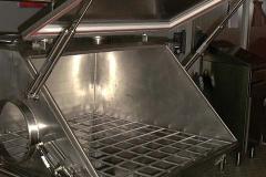 Pulvertrichter für Vakuumabsaugung